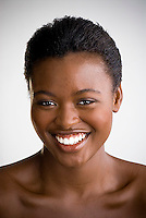 Portrait of young smiling African American woman