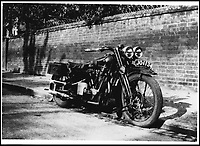 BNPS.co.uk (01202 558833)<br /> Pic: Bonhams/BNPS<br /> <br /> The bike in Oxford in 1930.<br /> <br /> Untouched time capsule makes this Brough Superior.<br /> <br /> An exceptionally rare vintage Brough Superior motorbike that has remained entirely unaltered since it was built nearly 90 years ago has emerged for &pound;140,000. <br /> <br /> From the marque dubbed the 'Rolls-Royce' of motorcycles this 680 Black Alpine bears the same frame, engine and gearbox as it did when it left the now defunct manufacturer's Nottingham factory in 1930. <br /> <br /> In 1927, with heavyweight models SS80 and SS100 already well established, biking pioneer George Brough decided to unleash a middleweight machine on to the burgeoning market. <br /> <br /> The bike will be sold by Bonhams in Stafford, Staffs, on April 23.