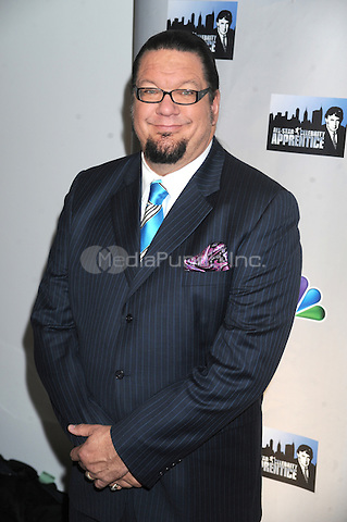 Penn Jillette at the press conference introducing the All-Star Celebrity Apprentice Season 13 cast. Jack Studios in New York City. October 12, 2012.. Credit: Dennis Van Tine/MediaPunch