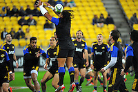 Ma'a Nonu takes an intercept in the touch rugby warmup before the Super Rugby match between the Hurricanes and Chiefs at Westpac Stadium, Wellington, New Zealand on Saturday, 16 May 2015. Photo: Dave Lintott / lintottphoto.co.nz