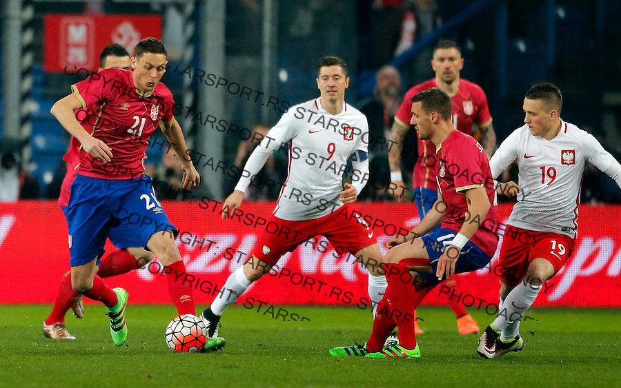 Nemanja Matic Poljska - Srbija prijateljska, Poland - Serbia friendly football match, March 23. 2016. Poznan  (credit image & photo: Pedja Milosavljevic / STARSPORT)