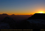 Sunrise over Walhalla Plateau from Mather Point, Wotan's Throne and Vishnu Temple, South Rim, Grand Canyon, Arizona