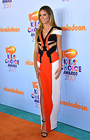 TV presenter &amp; model Heidi Klum at the Nickelodeon 2017 Kids' Choice Awards at the USC's Galen Centre, Los Angeles, USA 11 March  2017<br /> Picture: Paul Smith/Featureflash/SilverHub 0208 004 5359 sales@silverhubmedia.com