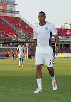 18 July 2012: Colorado Rapids defender Tyrone Marshall #34 walks off the pitch after warm-up during an MLS game between the Colorado Rapids and Toronto FC at BMO Field in Toronto, Ontario..Toronto FC won 2-1..