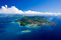 Aerial view of St John Virgin Islands