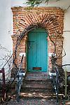 Teal door, Mission San Juan Baptista, Calif.