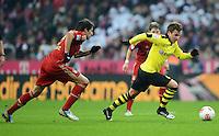FUSSBALL   1. BUNDESLIGA  SAISON 2012/2013   15. Spieltag FC Bayern Muenchen - Borussia Dortmund     01.12.2012 Mario Goetze (Borussia Dortmund) gegen Javi Martinez (FC Bayern Muenchen)