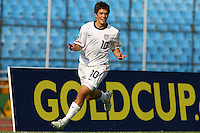 Kelyn Rowe celebrates the goal. USA Men's Under 20 defeated Panama 2-0 at Estadio Mateo Flores in Guatemala City, Guatemala on April 2nd, 2011.