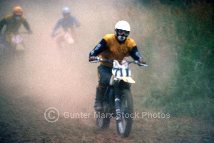 Motocross Rider racing in Motorcross Race, Fraser Valley, BC, British Columbia, Canada