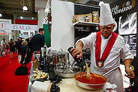 NEW YORK, NY JUNE 27: A Chef cooks as he attends the Annual Summer Fancy Food Show at the Javits Center in Manhattan on June 27, 2016 in New York City. (Photo by VIEWpress)