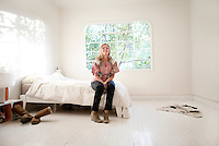 Liza Niles in her apartment in the Condesa in Mexico City, part of the Moving Portrait series.