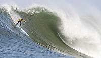 Kenny Skindog Collins. Mavericks Surf Contest in Half Moon Bay, California on February 13th, 2010.