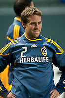 CARSON, CA – May 7, 2011: LA Galaxy defender Todd Dunivant (2) before the match between LA Galaxy and New York Red Bull at the Home Depot Center, May 7, 2011 in Carson, California. Final score LA Galaxy 1, New York Red Bull 1.