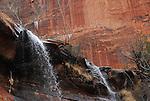 top of waterfall at Emerald Pools