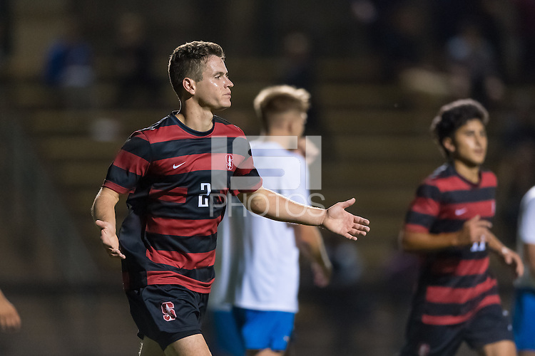 Stanford, CA - September 10, 2016: Foster Langsdorf during the Stanford vs San Jose State Men's soccer match in Stanford, California.  The Cardinal defeated the Spartans 4-1.