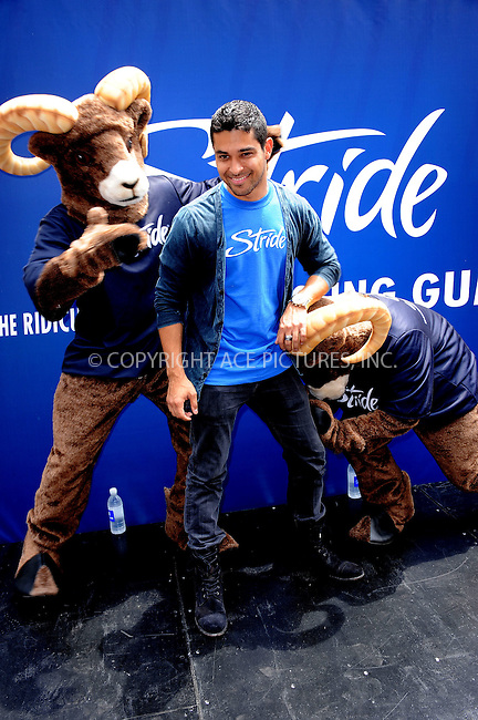 WWW.ACEPIXS.COM . . . . . .June 21, 2011...New York City....Wilmer Valderramma and the Stride Ram take to streets of Times Square for the Running of the Rams event on June 21, 2011 in New York City. Please byline: KRISTIN CALLAHAN - ACEPIXS.COM.. . . . . . ..Ace Pictures, Inc: ..tel: (212) 243 8787 or (646) 769 0430..e-mail: info@acepixs.com..web: http://www.acepixs.com .