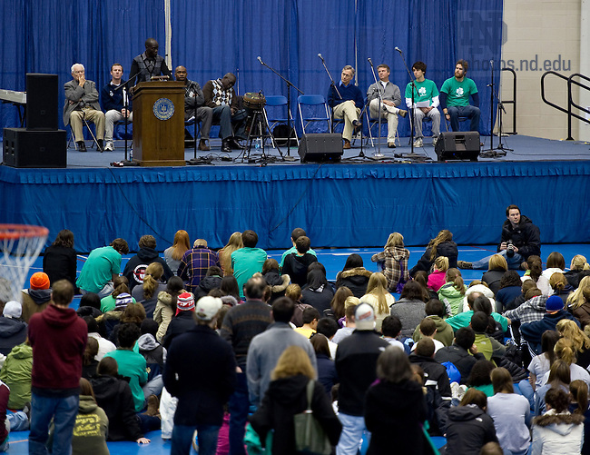 """Dec. 4, 2010;  """"Stand With Sudan Peace Rally"""" at the Joyce Center fieldhouse...Photo by Matt Cashore/University of Notre Dame"""