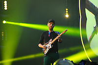 LONDON, ENGLAND - JUNE 16: Jonny Buckland of 'Coldplay' performing at Wembley Stadium on June 16, 2016 in London, England.<br /> CAP/MAR<br /> &copy;MAR/Capital Pictures /MediaPunch ***NORTH AND SOUTH AMERICAS ONLY***