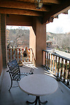 North America, USA, New Mexico, Santa Fe. Bishop's Lodge Balcony