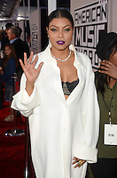 LOS ANGELES, CA - NOVEMBER 20: Taraji P. Henson at Westwood One on the carpet at the 2016 American Music Awards at the Microsoft Theater in Los Angeles, California on November 20, 2016. Credit: David Edwards/MediaPunch