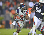 Ole Miss' Jeff Scott (3) runs vs. Auburn at Jordan-Hare Stadium in Auburn, Ala. on Saturday, October 29, 2011. Auburn won 41-23..