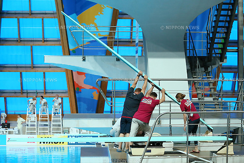 General view, JULY 30, 2015 - Diving : 16th FINA World Championships Kazan 2015 Men's 3m Springboard Preliminary at Aquatics Palace in Kazan, Russia. (Photo by Yohei Osada/AFLO SPORT)