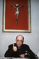 February 22, 1986. Havana Cuba. Monsigner de Cespedes, Secretery of the Bishop Conference of Cuba.