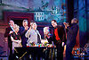 Evening at the Talk House <br /> by Wallace Shawn <br /> at the Dorfman Theatre, National Theatre, London, Great Britain <br /> 23rd November 2015 <br /> Press photocall <br /> <br /> directed by ian Rickson <br /> set designed by The Quay Brothers <br /> <br /> Josh Hamilton as Robert <br /> <br /> Wallace Shawn as Dick <br /> <br /> Joseph Mydell as Bill <br /> <br /> Stuart Milligan as Ted <br /> <br /> Naomi Wirthner as Annette <br /> <br /> Anna Calder-Marshall as Nellie <br /> <br /> Simon Shepherd as Tom <br /> <br /> Sinead Matthews as Jane <br />  <br /> <br /> <br /> Photograph by Elliott Franks <br /> Image licensed to Elliott Franks Photography Services