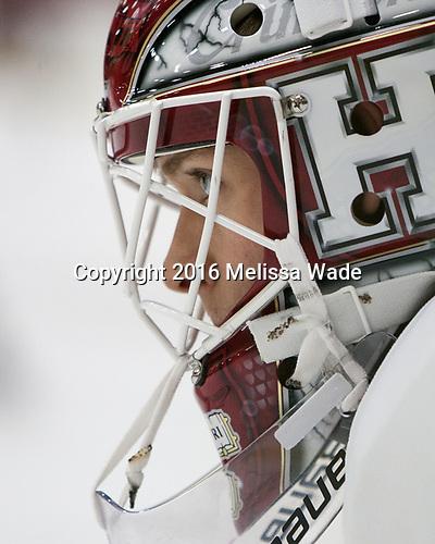 Cameron Gornet (Harvard - 32) - The Harvard University Crimson defeated the visiting Boston College Eagles 5-2 on Friday, November 18, 2016, at the Bright-Landry Hockey Center in Boston, Massachusetts.