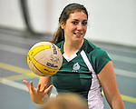 14 October 2011: The Vermont Commons School Flying Turtles host the Mid Vermont Christian School Eagles at the Sports and Fitness Edge Gymnasium in South Burlington, Vermont. The matches were the last home games of the VCS girls team for the 2011 season. Mandatory Credit: Ed Wolfstein Photo