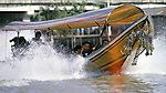 Long tailed boats used as water taxi's transport residents from their klong homes throughout  Bangkok, Thailand. (Jim Bryant Photo).....