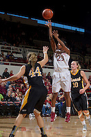 Stanford's Jasmine Camp, attempts to make a basket during Saturday, November 25, 2012 game at Stanford. Stanford won 77-41.