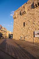 The Jaffa Gate of the Old City of Jerusalem.