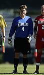 Nikki Resnick, Maryland goalkeeper, on Sunday, October 16th, 2005 at Duke University's Koskinen Stadium in Durham, North Carolina. The Duke University Blue Devils defeated the University of Maryland Terrapins 1-0 during an NCAA Division I Women's Soccer game.
