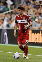 Gonzalo Segares Chicago Fire...Sporting KC were held to a scoreless tie with Chicago Fire in the inauguarl game at LIVESTRONG Sporting Park, Kansas City, Kansas.