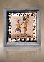 1 cent AD Roman Erotic Mosaic from a house in Pompeii. Naples Archaological Museum
