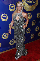 BEVERLY HILLS, CA, USA - MARCH 28: Sabrina Parisi at the Versace Unveiling Of The 1st Pop Recording Artist Superhero - KUBA Ka's Performance Outfits. Designed by the legendary fashion hosuse - Donatella Versace. For the Benefit of the Face Forward Foundation (Plastic Surgery for Destroyed Faces from Violence). Pop entertainer TV personality KUBA Ka, together with VERSACE, unveiled Kuba Ka's new Versace images, for the First Pop Artist/Superhero of the World. He has become the inspiration of Donatella's newest and wildest creations and will celebrate the launch of his new power house conglomerate - KUBA Ka Empire Inc. in collaboration with the sensational fashion house - VERSACE on Friday, his birthday at a red carpet media and celebrity event at the luxurious Peninsula Hotel in Beverly Hills held at the Peninsula Hotel on March 28, 2014 in Beverly Hills, California, United States. (Photo by Xavier Collin/Celebrity Monitor)