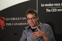 Eric Fournier, Moment Factory speak at the Canadian Club of Montreal, Monday, September 12, 2016.<br /> <br /> Photo : agence quebec presse
