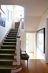 The Portland, Oregon home of Wendy Burden, author of  the memoir, Dead End Gene Pool. The front hallway and stairs.
