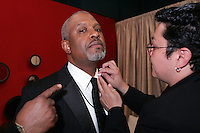 28 April 2006: James Pickens has his shirt cleaned inside the exclusive behind the scenes photos of celebrity television stars in the STAR greenroom at the 33rd Annual Daytime Emmy Awards at the Kodak Theatre at Hollywood and Highland, CA. Contact photographer for usage availability.
