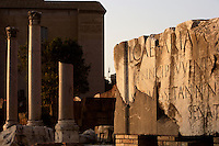 Large Dedicatory Inscription, North Side of the Roman Forum, recording the dedication of the Senate in 2 BC to Lucius Caesar (grandson of the deifed Caesar) as Princeps Inventutis, Roma, Italy, Europe.