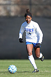24 November 2013: Duke's Natasha Anasi. The University of Arkansas Razorbacks played the Duke University Blue Devils at Koskinen Stadium in Durham, NC in a 2013 NCAA Division I Women's Soccer Tournament Third Round match. Duke advanced by winning the penalty kick shootout 5-3 after the game ended in a 2-2 tie after overtime.