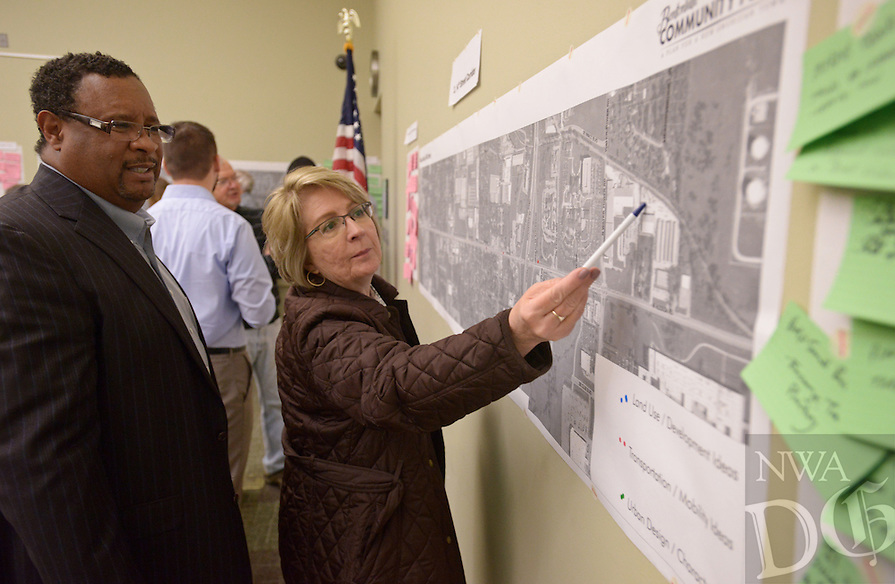 NWA Democrat-Gazette/BEN GOFF @NWABENGOFF<br />  on Thursday, Feb. 18, 2016 during a visioning workshop hosted by Houseal Lavigne Associates at the Bentonville Public Library for the community to learn about and comment on Bentonville Community Plan.