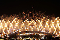 August 29, 2004; Athens, Greece; Image is of Athens Olympic Stadium during the 2004 Athens Olympics Closing Ceremonies. (©) Copyright 2004 Tom Theobald