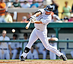 9 March 2012: Detroit Tigers catcher Rob Brantly in action during a Spring Training game against the Philadelphia Phillies at Joker Marchant Stadium in Lakeland, Florida. The Phillies defeated the Tigers 7-5 in Grapefruit League action. Mandatory Credit: Ed Wolfstein Photo
