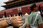 A Chairman Mao watch that was bought for $30 Yuan, about $4.40 USD, outside the walls of the Forbidden City in Beijing, China on Sunday, August 10, 2008.  Kevin German
