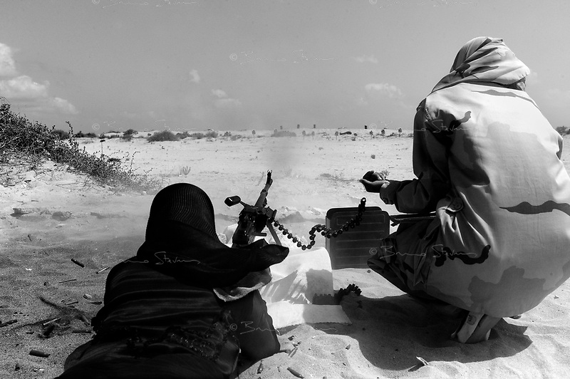 near Syrte, Libya, June 27, 2011..Picture taken during a government organized trip. Foreign journalists are shown women military training exercises on a beach outside the city.