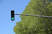 Green traffic light, Marseille, France