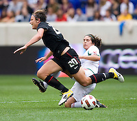 Abby Wambach, Alina Garciamendez. The USWNT defeated Mexico, 1-0, during the game at Red Bull Arena in Harrison, NJ.