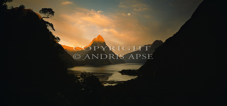 Mitre Peak and Milford Sound. Fiordland National Park. New Zealand.